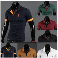 Men Cotton Polo free shipping!2013 new men's polo t shirt cotton size M-XXL
