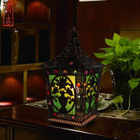 Wholesale Bohemian style bed lighting bedroom lamp dressing table lamp wedding supplies lamp tieyi small lamp