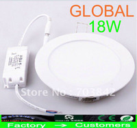 No 85-265V 2835 Cheap 10 Piece Led panel Lights lamp ceiling light 18W Natural White Warm White Indoor Lighting 85-265V Real high power On Sale Via DHL