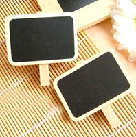 Wholesale Fedex Wooden Mini Blackboard Message Paper Clip Mini Chalkboard Notes Folder Bookmark