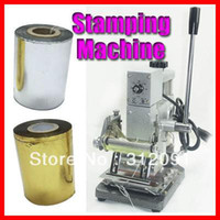 Wholesale HOT FOIL STAMPING MACHINE TIPPER BRONZING PVC CARD FREE FOIL PAPER V