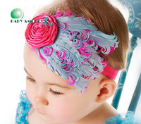 Wholesale baby feather headband girls hairbands fashion Christmas gift hair tie Head bands Children s Hair Accessories colors