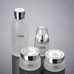 Wholesale 30ml and g glass jars Bottle PET White Flip Cap Comestic Bottle