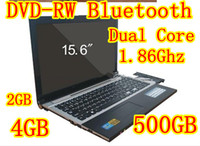 Wholesale DHL Original Branded Name inch laptop notebook Intel Atom D2500 Dual Core DVD Burner GB HDD