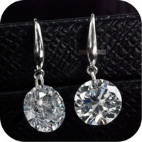 Wholesale 925 sterling silver genuine SWAROVSKI crystal womens lady stud earrings ct