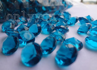 Wholesale 30 OFF Free DHL For Large Quantity Set C mm Teal Blue diamond confetti wedding favor table scatter Decor