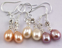 Wholesale Natural freshwater pearl earrings ChanZhu eardrop han edition fashionable OL new pearl earrings