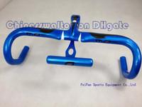 Wholesale Cool advanced Blue Most handlebar full carbon Fibre road bike integrated handlebar Integrative sell DIY pinarello cervelo complete bike