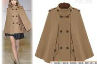 Wholesale 2013 autumn winter women new Occident style cloth cloak woolen cloth coat English cape wind trench coat