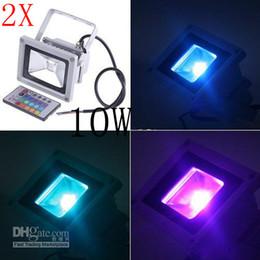 2X DHL 10W Waterproof Floodlight Landscape Lamp RGB LED Flood Light Outdoor LED Flood Lamp 110V 85-265V