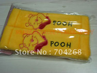 Wholesale retail Cute cartoon character moto car Seat belt covers cover pair set yellow
