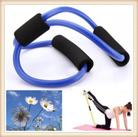 Wholesale Resistance Bands Stretch Fitness Tube Fitness Exercise For Yoga Workout Resistance Band Tube