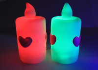Wholesale Large Candle LED Candle Flameless candle lover heart Candle Wedding Bar supplies