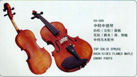 Wholesale String Music Instrument Middle Grade Viola VA Solid Spruce Flamed Maple Ebony Parts