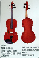 Wholesale String Music Instrument Common Grade Viola VA Solid Spruce Flamed Maple Boxwood Parts