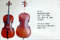 Wholesale String Music Instrument Common Grade flower painted Cello CB Solid Spruce Flamed Maple Ebony Parts