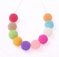 Wholesale mm colorful acrylic berry beads Newest