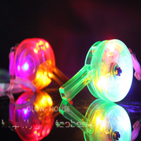Colorful flash light emitting led whistle props supplies lig...