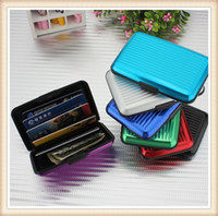 Wholesale Pocket ID Credit Card Wallet Holder Case Box Aluminum Water Resistant Credit Card Holder