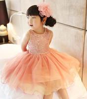 Summer jumper dress - Jumper Skirt Flower Girl Dresses Kids Summer Dress Girls Cute Lace Dresses Child Clothes Fashion Sequins Princess Dress Children Clothing