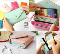 Wholesale New Multi propose envelope wallet case Purse for Galaxy S2 S3 iphone S
