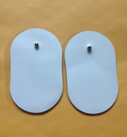 Wholesale 100pcs oval shape Electrode Pads pad for ems tens electronic slimming massager macine