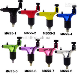 Wholesale Spektra halo Style Pro Rotary Tattoo Machine Gun Shader Liner Tattoo Machine Gun V2 with Stroke excenter Colors M655