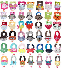 Wholesale New D Cartoon Towel Baby Bibs layer waterproof baby Feeding Animal Button bibs colors feedings