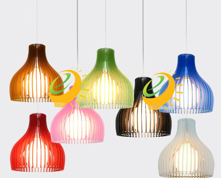 New Modern Acrylic Cage Pendant Light Colorful New Dining