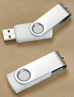 Wholesale Premium Metal White Swivel USB Flash Memory Drive Stick Thumb Pen usb gb gb gb