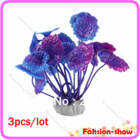 Wholesale Aquarium Decorative Purple Plastic Plant Grass Fish Tank Landscape Decoration