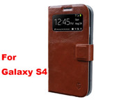 Wholesale 30pcs Original Vcoer Table Talk Flip Luxur Retro Slim Wallet Leather Case Smart Cover For Samsung Galaxy S4 S IV i9500