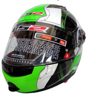 Wholesale LS2 FF370 Motorcycle Helmet full face helmet motocross undrape face Moto Racing Off road helmet white green universe color