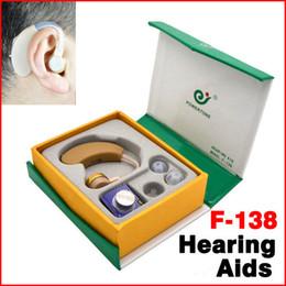 Wholesale Adjustable AXON F Digital Hearing Aid Aids Audiphones Audiphone Behind Ear Deaf Sound Voice Amplifier Enhancement