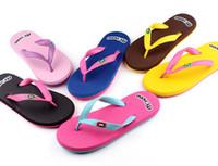 Flip Flops beach sandals wholesale - Summer Slippers Slippers Flip Flops Shoes Lady Design Beach Slippers Sandals Slides