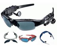 Wholesale Sunglasses Mp3 Headset Sports Headphone Black Sun Glasses Music Mp3 Player GB GB GB GB Internal Memory DHL