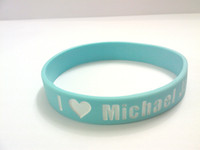 Wholesale New arrive Silicon Gel Bracelets Design For Michael Jackson s Fans many colors u can mix china post