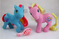 Wholesale Girl s Gift Doll My Little Pony cm PVC material Doll HasBro Mini Hair Pony Children s Pony Horse