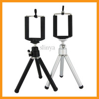 Wholesale Portable Tripod Mount Holder Bracket For iPhone S Samsung Galaxy S3 S4
