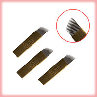 Wholesale 200pce Tattoo eyebrow needle Arc needle special for eyebrow tattoo