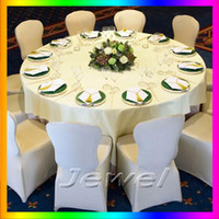 Wholesale one piece white spandex chair cover High quality lycra chair cover for wedding or party for sample