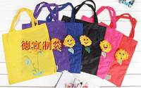 Wholesale Tropical sun flower shopping bag Environmental protection bag Fold CM CM