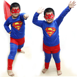 Wholesale Children s Superman Suit Boy Performance clothing Halloween Halloween costumes Spiderman costumes