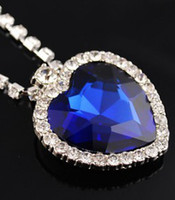 Wholesale Titanic Heart of Ocean CM Large Heart of Ocean Crystal Pendant Necklace Chain Length quot
