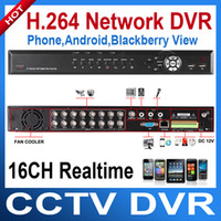 Wholesale H real time16 channel Stand alone network DVR Mobile Phone Remote monitoring audio input Digital vedio recorder