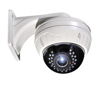 Wholesale TVL day and night outdoor vandalproof Dome IR CCD camera with mm vari focal lens with all in one bracket