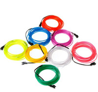 Wholesale DHL FEDEX Freeshipping Lemon Red Yellow Green White Blue Purple Pink M Flexible Neon Light EL Wire Rope