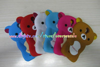 Wholesale Rilakkuma Bear Panda D cute Cartoon style soft Silicone Rubber Gel Back cover case cases for Samsung Galaxy SIV S IV S4 I9500