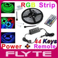 Wholesale IP65 Waterproof LEDs Strip M SMD5050 RGB LED Strip Light Key IR Controller Control Box Power Supply
