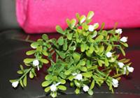 Wedding   10pcs lot Fashion Artificial potted plant fake Plastic green tree bonsai arrangements 20pcs lot in free shipping